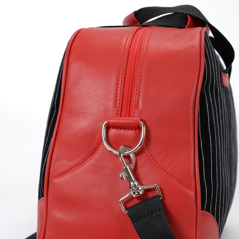 SpeedWeek Bag - Pinstripe Black-Red