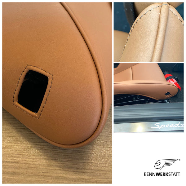 Bespoke RENNWERKSTATT® Seat Bolster Protectors for Porsche Light Weight Bucket Seats