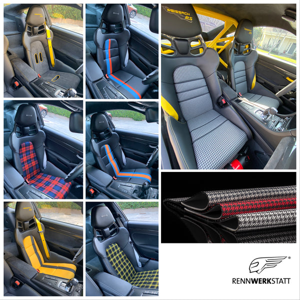RENNWERKSTATT® Seat Insert Set for Porsche Light Weight Bucket (LWB) Seats incl. Foam Parts