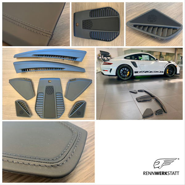 911 (991) Customization - Dashboard Trim Package in Leather (CZW) (with/without core trade-in)