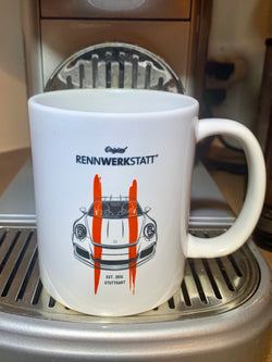 Mug / Cup - Porsche 911 R - Red Stripes on White