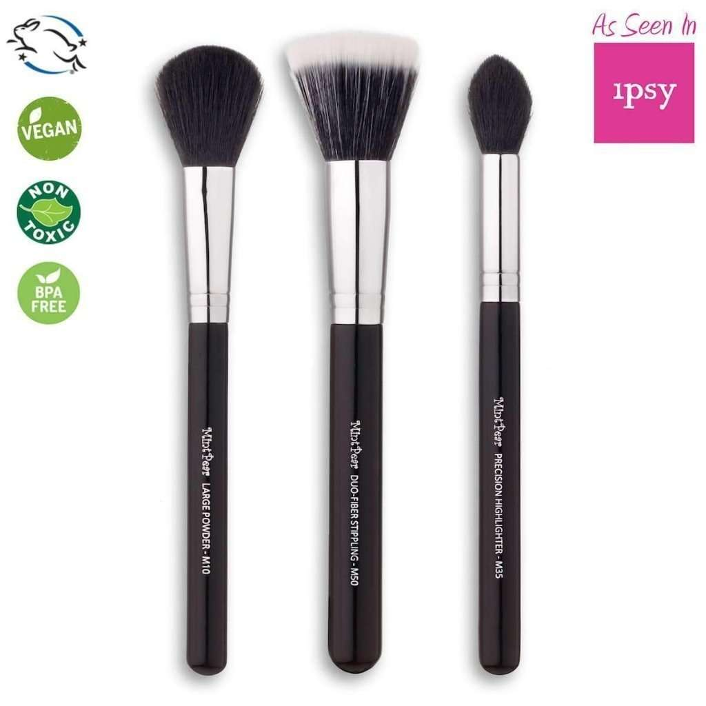 Trio Makeup Brush Set - The Ultimate Face Essential Set