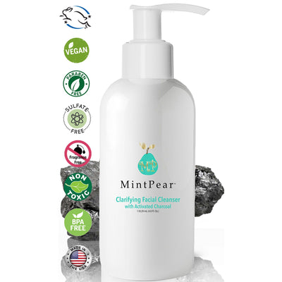 Skincare - Clarifying Daily Facial Cleanser (with Hyaluronic Acid & Activated Charcoal) 4oz