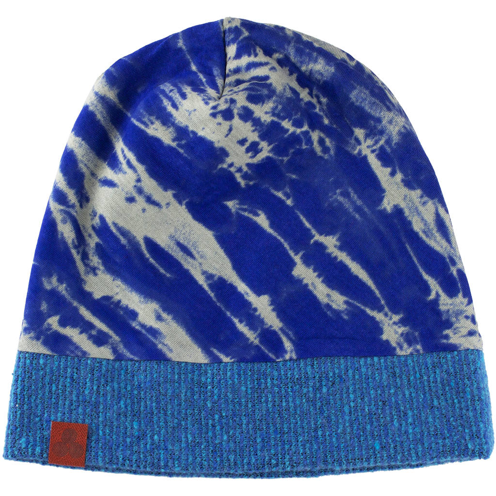 Kid's beanie Blue/Water print