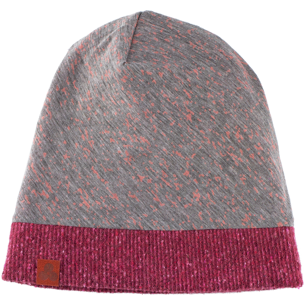 Kid's beanie Pink/Grey flecked with pink