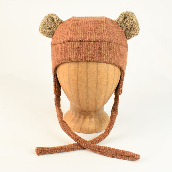 Kids Fuzzy Bear Hat