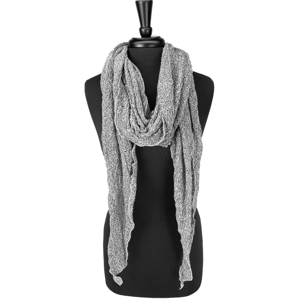 women grey knit scarf *ash