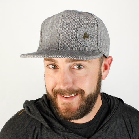 Men's cap grey color