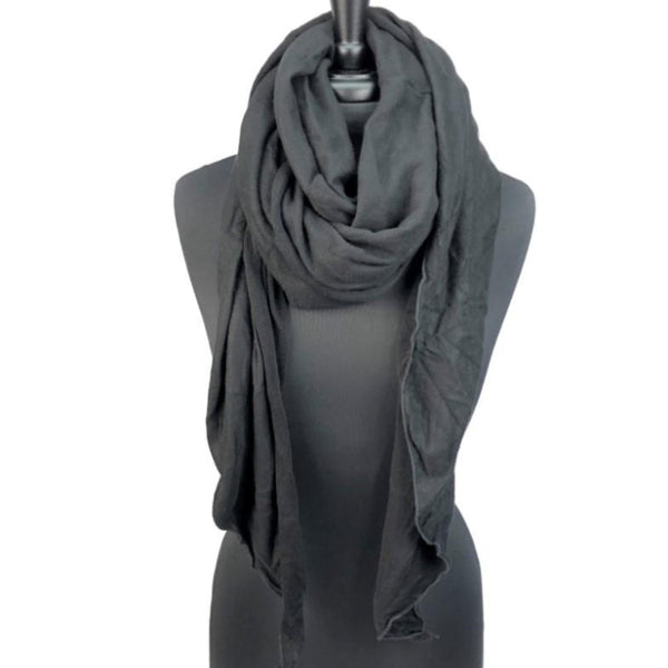 women black soft knit scarf