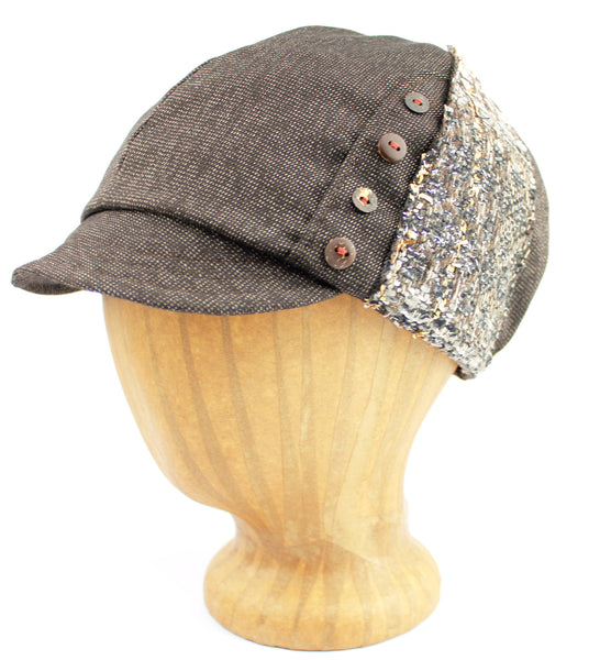 Women's hat grey color