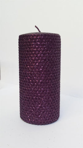 "Candles 3""x 6"" Burgundy Metallic Pillar by Oak Forest Design"