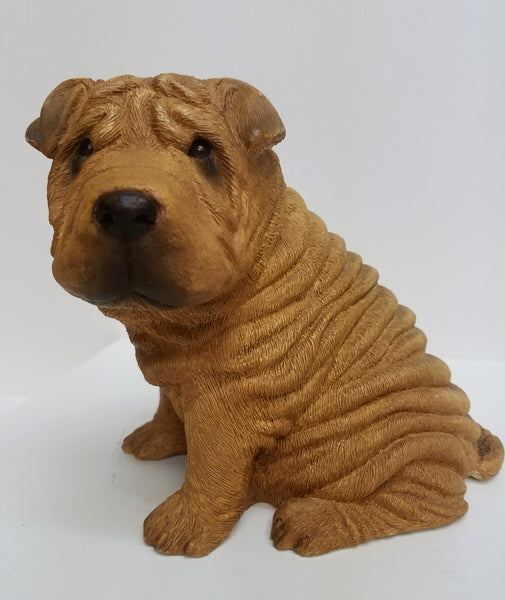 Shar-Pei Red, Sitting. Sandicast OS192. Original Size