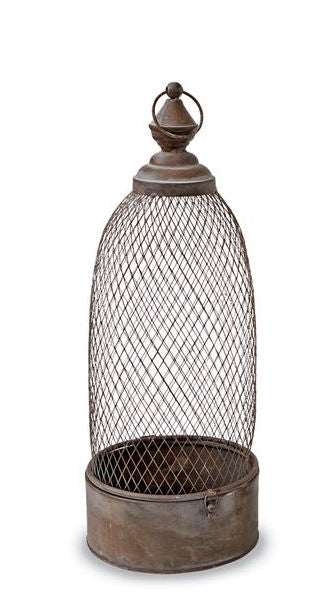 Large Domed Copper Tone Lanterns by Mud Pie