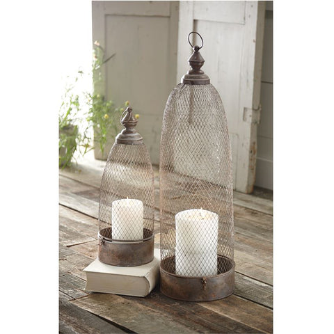 Domed Copper Tone Lanterns by Mud Pie