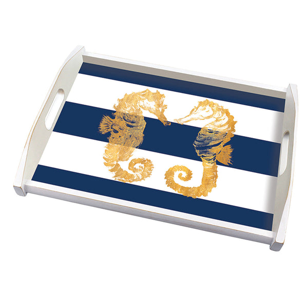 "Hardboard Place-Mats  ""Nautical Seahorses"""