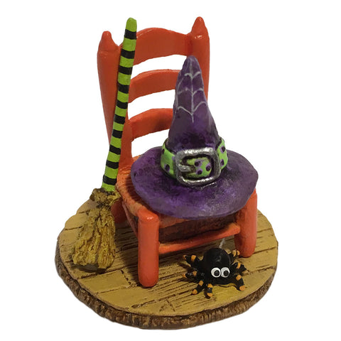 "Wee forest Folk A-38 ""Witchy's Hip Hat & Broom"""