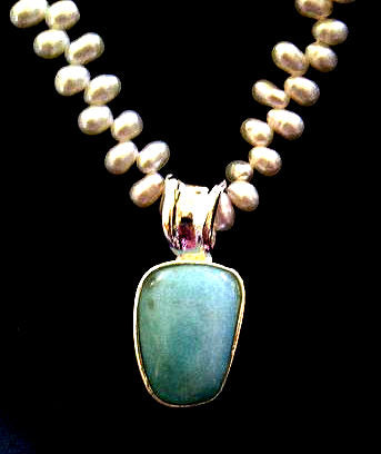 Amazonite Sterling Silver Necklace