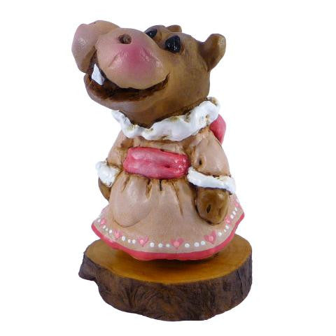 "Wee forest Folk H-1s-""Miss Hippo"" Forget-Me-Nots"