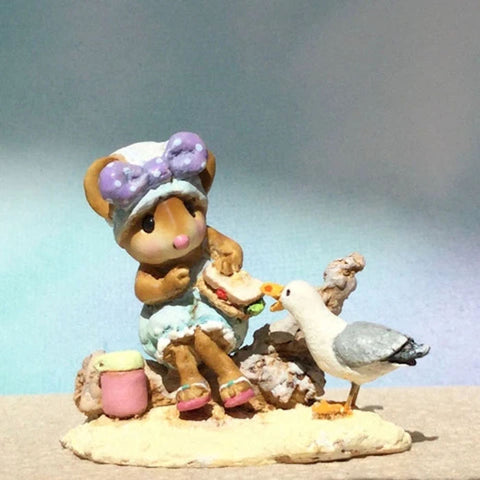 "Wee Forest Folk M-690 ""Seaside Suzy"" Lavender Bow"