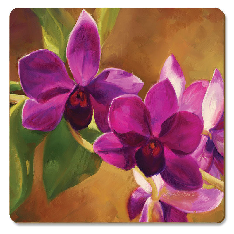 "Coasters ""Purple Orchid"""