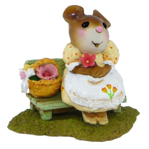 "Wee Forest Folk M-483 ""Mother's Rosy Posies"" Yellow"