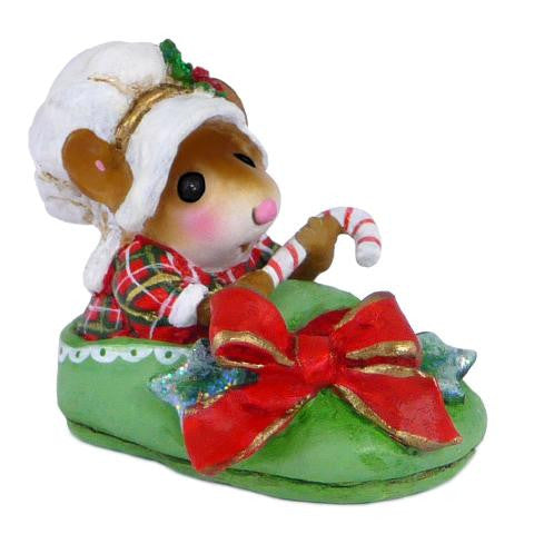 "Wee Forest Folk M-498 ""Snuggled in for Christmas"""
