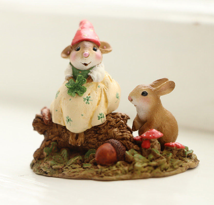 "Wee Forest Folk M-580a ""LUCKY LASSIE"" St. Patrick's Day"