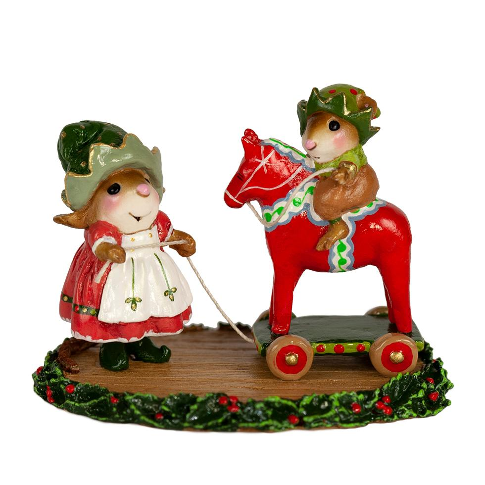 "Wee Forest Folk M-682 ""DALA HORSE ELVES"""
