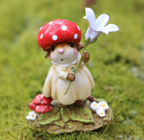 "Wee Forest Folk M-686 ""Ruby Red Cap."""