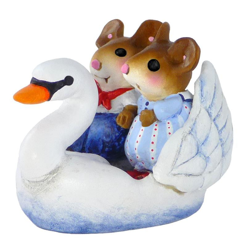 "Wee Forest Folk M-475 ""Swan Boat Sweethearts"""