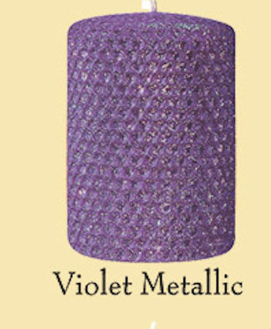 "Candles 3""x6"" Pillar "" Violet Metallic"" by Oak Forest Design"