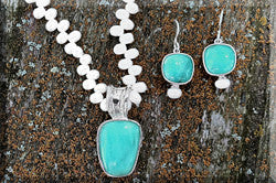 Amazonite Sterling Silver Jewelry Set
