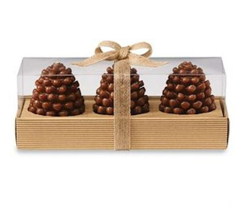 Pine Cone Candle Set