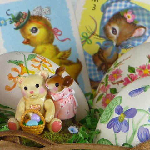 "Wee Forest Folk M-522 ""Teddy's Easter Hug"""