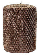 "Candles 3""x 6"" Bronze Metallic Pillar by Oak Forest Design"