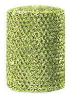 "Candles 3""x 6"" Pillar ""Chartreuse"" Metallic by Oak Forest Design"