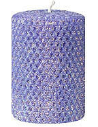 "Candles Classic Glitter 4"" Pillar ""Cobalt"" by Oak Forest Design"