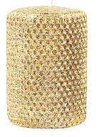 "Candles 3""x 6""  Gold Metallic Pillar by Oak Forest Design"