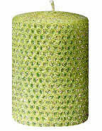 "Candles 3"" x 6"" Pillar ""Lime"" Classic Glitter  by Oak Forest Designs"