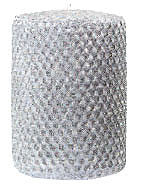 "Candles 3""x 6"" Silver Metallic Pillar by Oak Forest Designs"