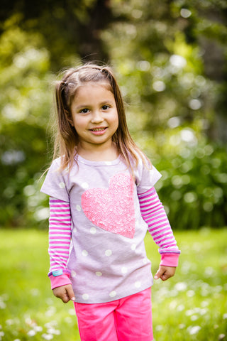 Girls Sun Sleeves - Summer Stripes Pink
