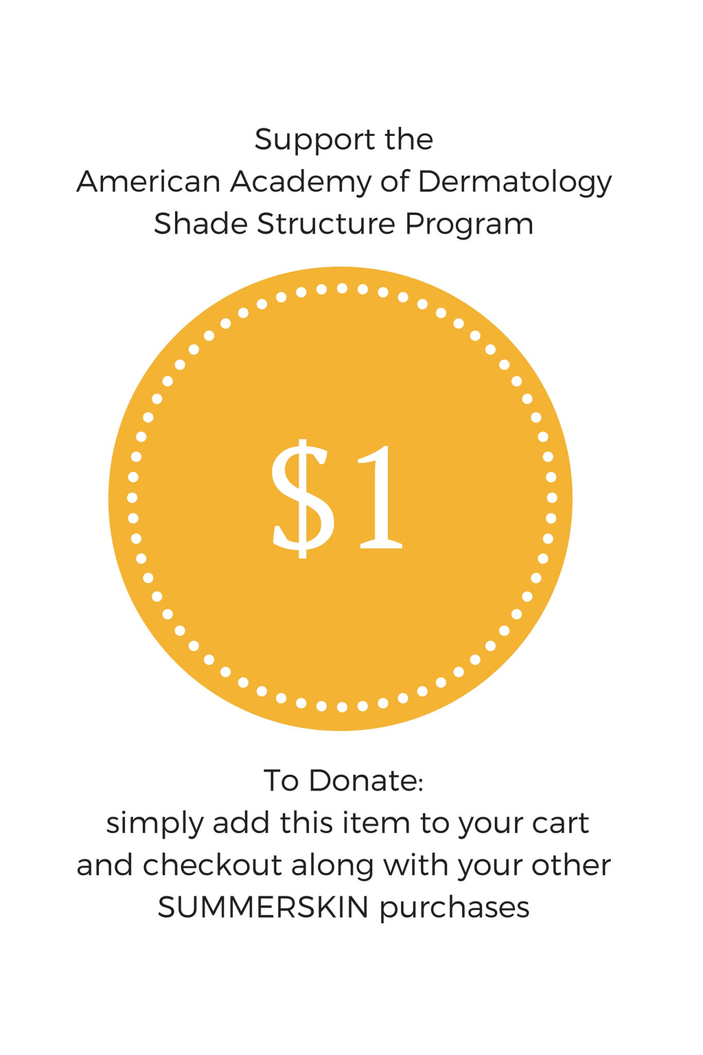 $1 to Help Build Shade Structures