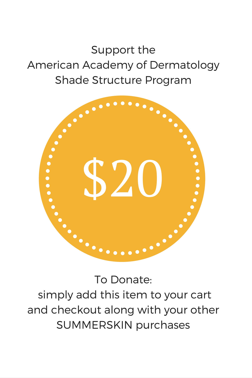 $20 to Help Build Shade Structures