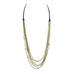 Multi-strand Quartz Necklace in Mixed Metal