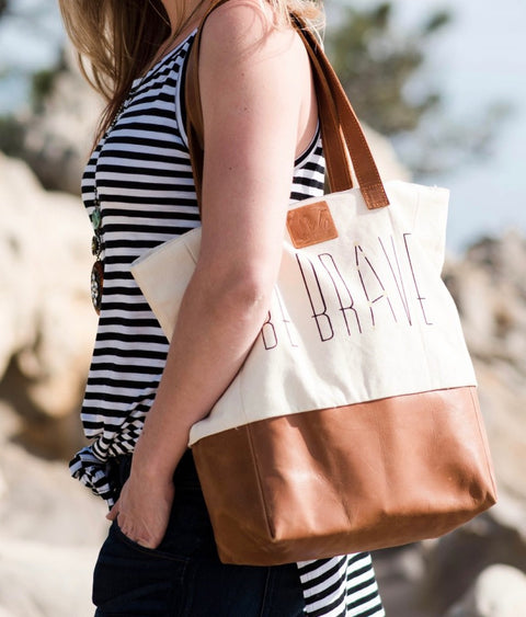 Be Brave Bucket Bag