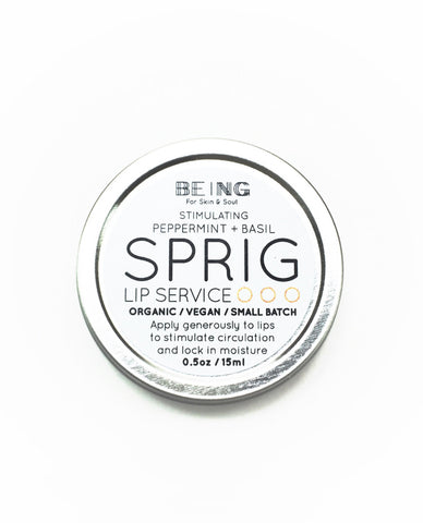 Sprig Lip Service • Stimulating Peppermint + Basil