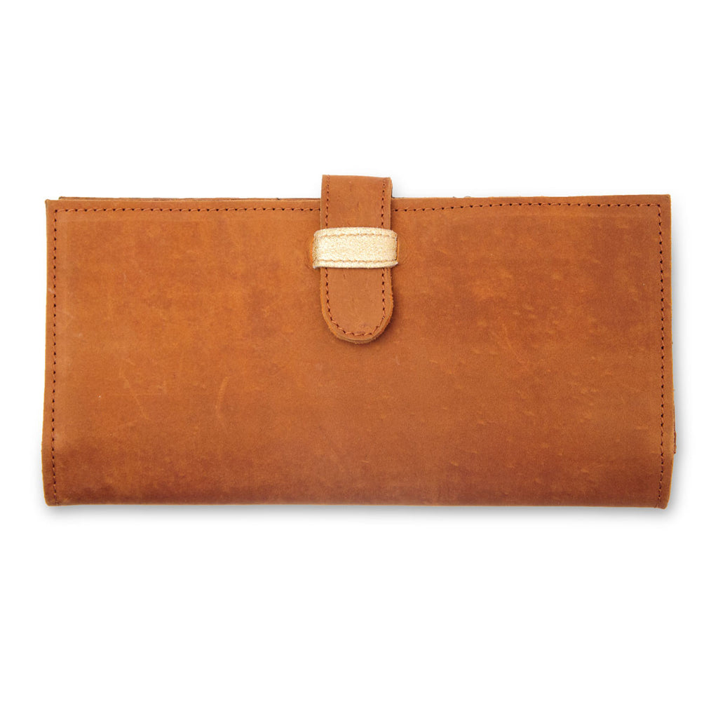 Caramel Leather Travel Wallet