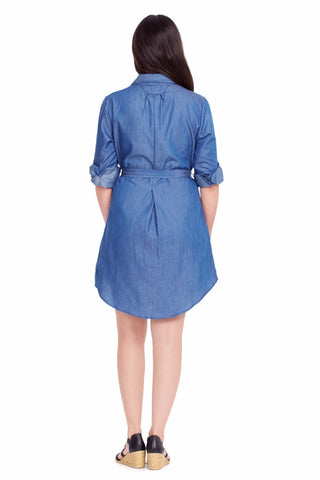 your Perfect Chambray Shirt Dress • UPF 50+