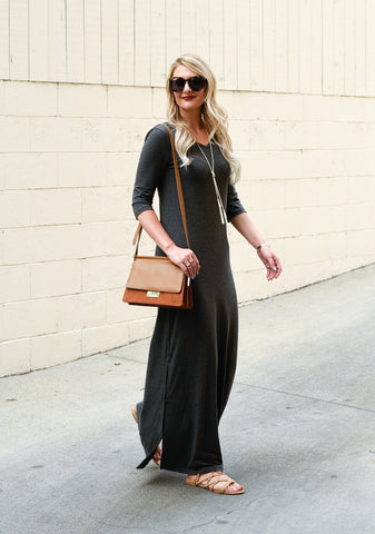 your Favorite Mid-Sleeve Maxi Dress • UPF 50+