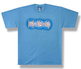 Def Leppard  Wild Lights Euphoria 1999 Tour blue t-shirt
